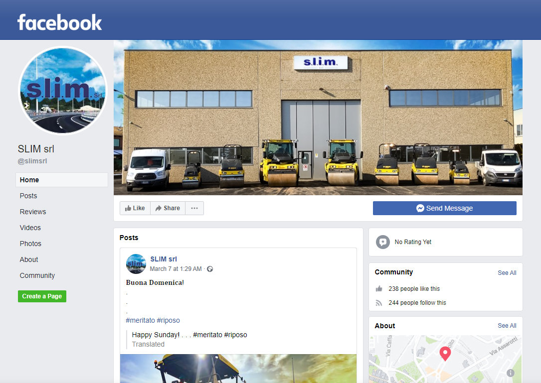 Slim srl du Facebook